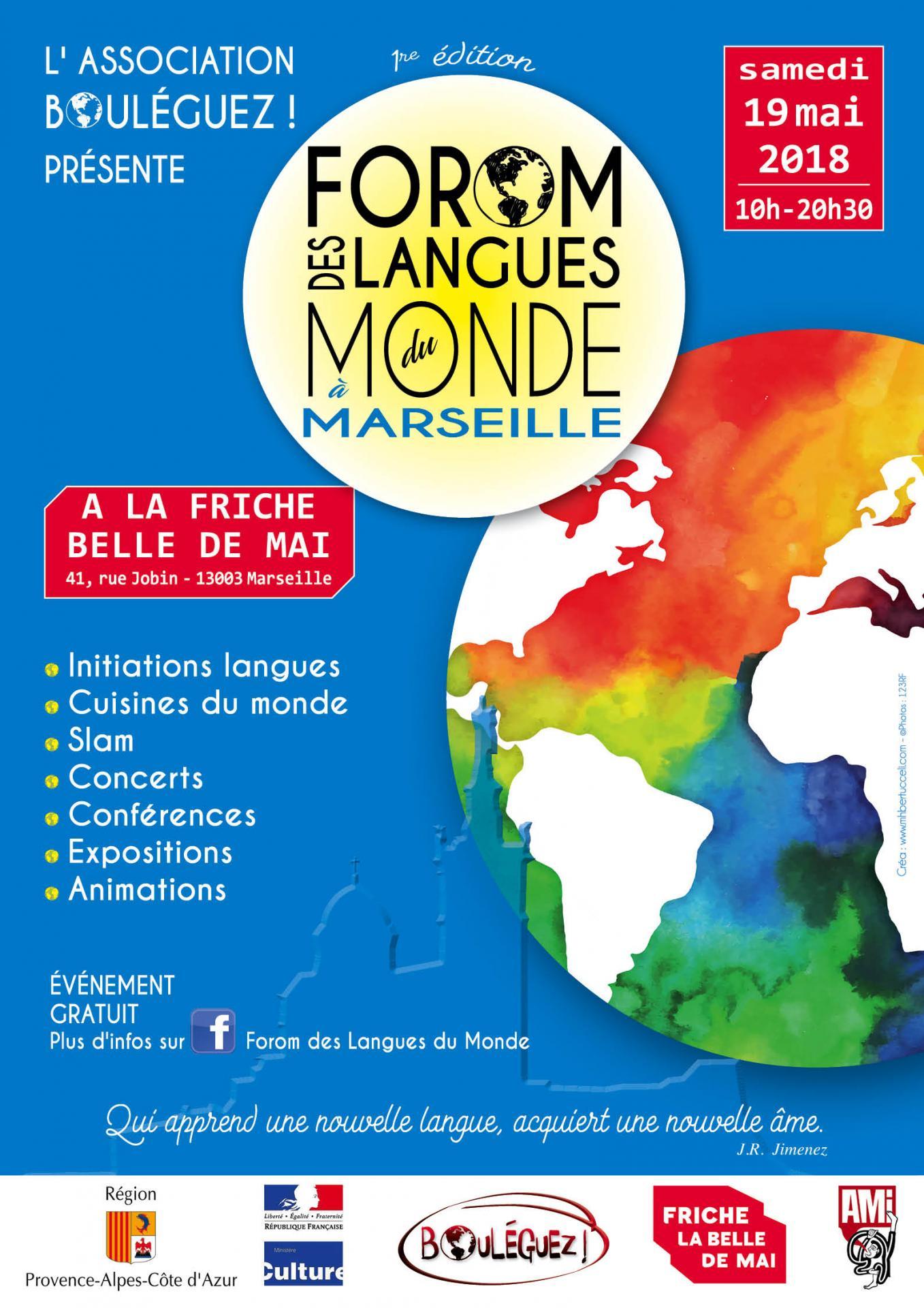 Affiche Forom des langues du Monde