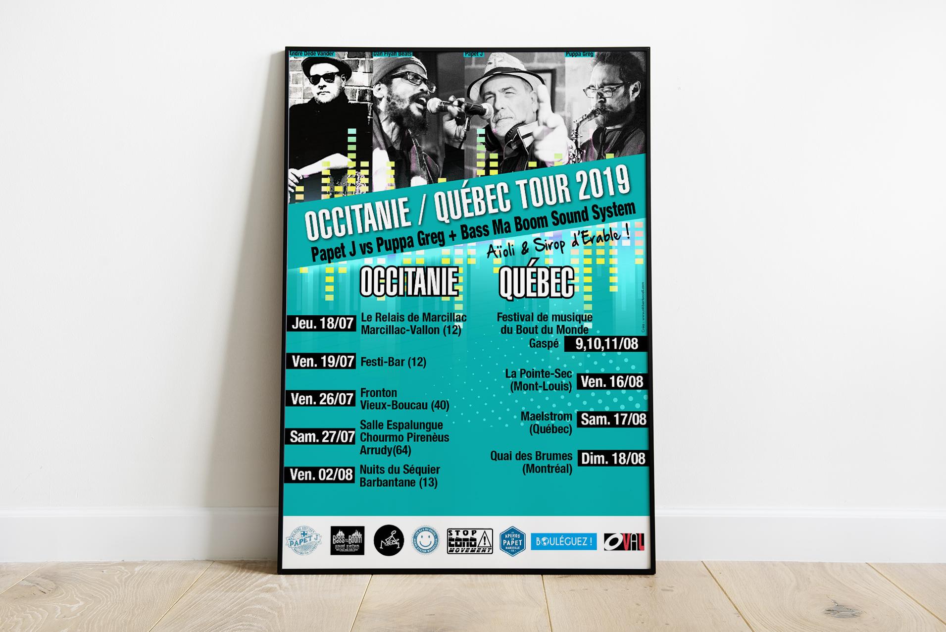 Affiche Papet J - Tournée Occitanie Québec