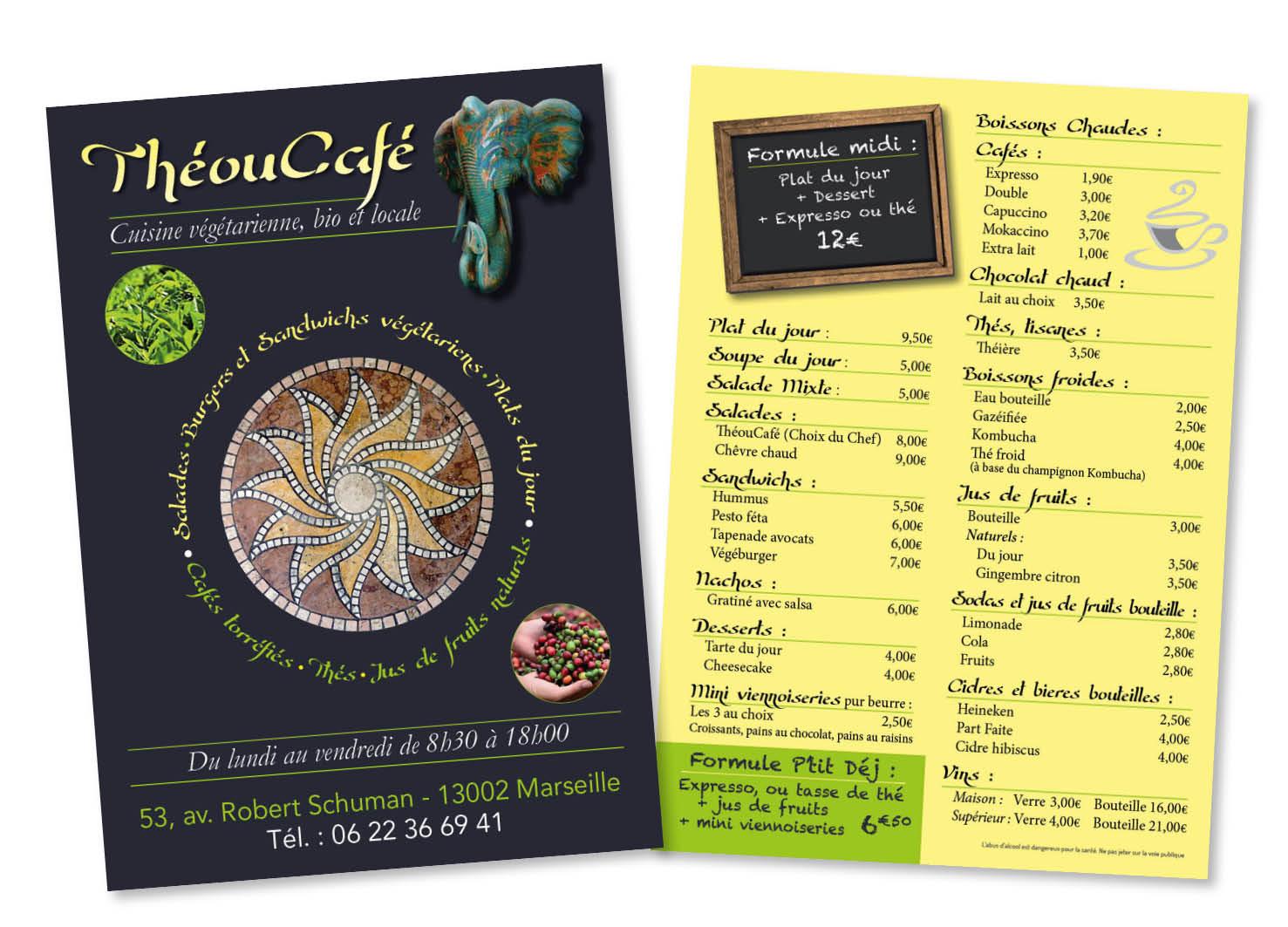 Carte Thé ou café